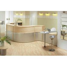 Modern Curved MFC Oak Medical Reception Desk (HF-R019)