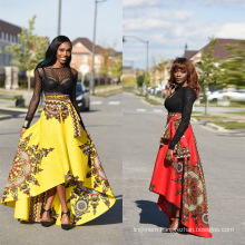 wholesale hot selling fashion African clothing skirt yellow&red color national costumes
