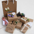 Wholesale DIY Kraft Paper Jewelry Gift Packing Box with Decoration