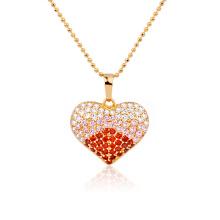 Pingente de coração de ouro de luxo 18k Xuping