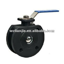 Carbon Steel Wafer Ball Valve Flange Ends 150LB for Water