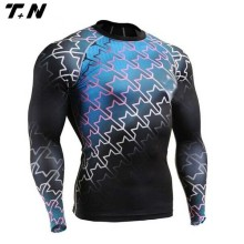 polyester spandex blank plain rash guard tight