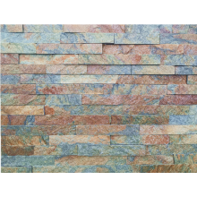 15 × 60 سم صدئ Quarzite Stacked Stone لسهولة التركيب
