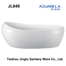 2016 New Egg Shape Freestanding Hot Tub Bathroom Bathtub (JL649)