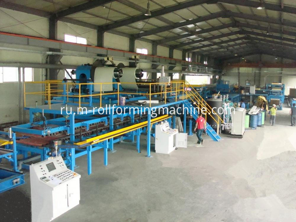 Eps sandwich panel production machine line