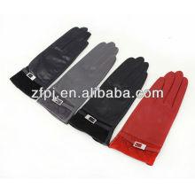 Melhor Venda estilo preto básico luvas de couro em massa