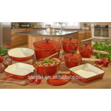 Ustensiles de cuisine en fonte émaillée pour cuisine