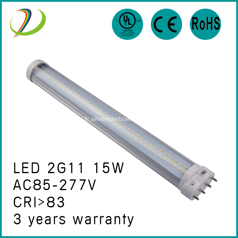 Tube de 180 degrés 18W 2G11 LED