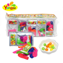 3 In 1 Toy Candy Balloon With Jelly Cube And Candy