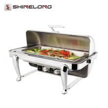 C060 Rectangular Chafing Dish Set con patas curvadas / Platos de frotamiento para la venta