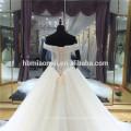 Diseño especial vestido de novia espalda abierta perlas rebordear encaje ver a través de raso forro vestido de novia de encargo