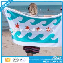 China Textil gewebt Technic Velour Baumwolle Splash-Ink-Design benutzerdefinierte Strand Handtuch drucken