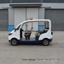 High Quality 2 4 Seater Electric Closed Style Street Laminated Glass Small Police Patrol Car with Ce SGS Certificate