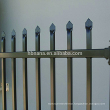 Low Price Galvanized Black Powder Painted Panel Used Aluminum Steel Fence