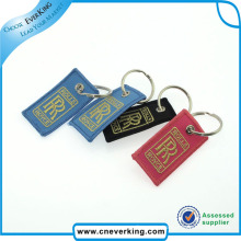 Custom Key Chain Polyester Key Ring Embroidery Keychain by Hand