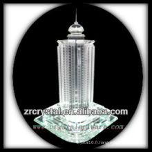 Magnifique modèle de bâtiment en cristal H045