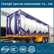 Contenedor del tanque de aceite de 40 pies ISO Contenedor líquido del tanque de la sustancia química / de combustible 20FT