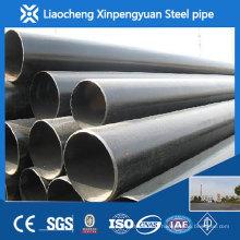 Tuyau en acier inoxydable de carbone sch40 de 18 pouces st45.4, tuyau en acier au carbone, tuyau en acier noir