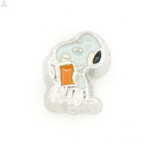 Floating locket cartoon enamel charm,cheap floating charms for bracelets