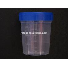 Recipiente de coleta de urina e copo de teste