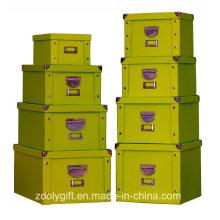 Inicio Ropa Plegable Caja de almacenamiento / Caja de almacenamiento de juguetes multiusos con mango de hierro y protector de esquina