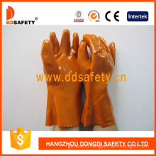 Orange PVC Industry Gloves, 100%Cotton Liner (DPV102)