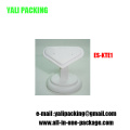 White PU MDF Heart Shaped Jewelry Earring Display Base (ES-KT1)