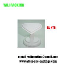 Base de exibição em forma de brinco de jóias de coração de MDF branco PU (ES-KT1)