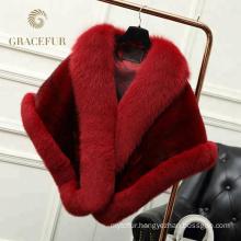 Low price lady mink fur shawl