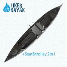 Горячий черный цвет PRO Pedal Kayak для рыбалки и рыболовного дизайна от Liker
