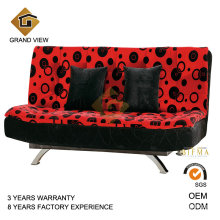 Chenile Sofa Set Cow Hide Chair Ottoman (GV-BS112)