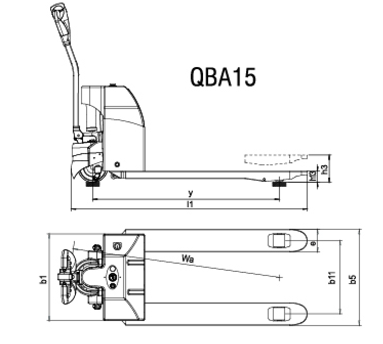 QBA-15 smart electric pallet truck
