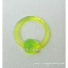 Mode Acryl Nase Ringe Ball Verschluss Ring