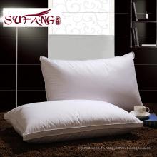 Luxe Confortable Usine Directement Haute Qualité Hôtel Accueil oreiller oreiller fonctionnel 1200g oreiller en duvet d'oie