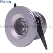 Delton 1W color plata mini LED Spot de iluminación (DT-CGD-018B)