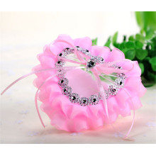 Wedding satin decoration bridal colored beautiful ring bearer pillow wholesale