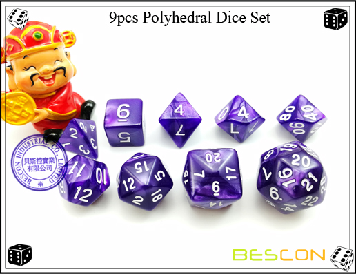 9pcs Polyhedral Dice Set-7