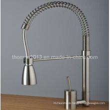 Küchenarmatur Einhebelmischer aus gebürstetem Nickel mit Einhandbedienung, Bickbock Tap (Qh0747s)