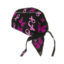 OEM Produce Customized Logo Printed Promotional Cotton Skull Cap Bicycle Adjustable Bike Headband