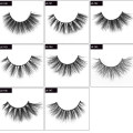 3D 5D 25mm 100% Real Mink Strip Eyelash Wholesale with Private Logo Label