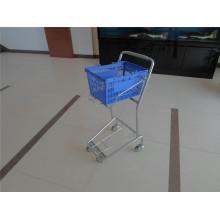 Metal Supermarket Wire Basket Trolley
