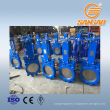 rising stem lug type knife gate valve ceramic rubber