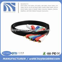15ft 5rca al cable video del alambre 5rca para HDTV DVD VCR