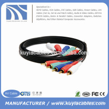 15ft 5rca para 5rca Video Wire Cable para HDTV DVD VCR