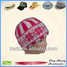 LSA10, Meninas Destaque Angora Beanie tricô chapéu