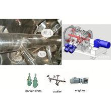 Mezclador de la serie LDH de la serie LDH 2017, mezclador doble del cono de los SS, licuadora química horizontal