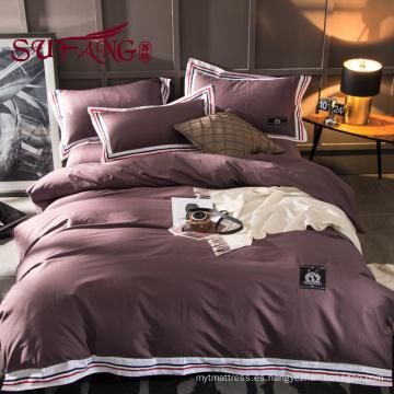 Juego de sábanas de lujo de colores del hotel 100% algodón