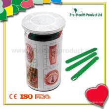 Depressor de linguagem de plástico em uma lata de anel de junção de PVC (PH1037B)