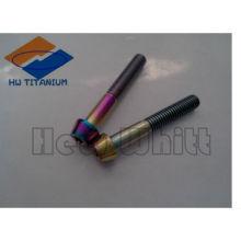 perno de cabeza cónica de titanio del arco iris DIN933