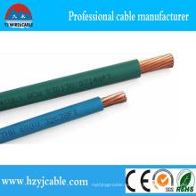 Thw trenzado único cable 75c seco, 75cwet 16AWG Thwn edificio de alambre y cable con UL83, UL1581standard